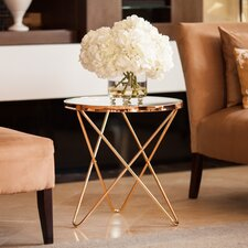 Atlanta Clear Glass Top Round End Table