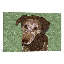 Venice Dog Graphic Art on Wrapped Canvas
