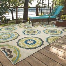 Capri Beige/Green Indoor/Outdoor Area Rug
