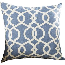 Alberts Damask Cotton Throw Pillow