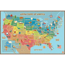 Lucas USA Map Wall Mural