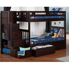 Cascade Twin over Twin Bunk Bed with Storage