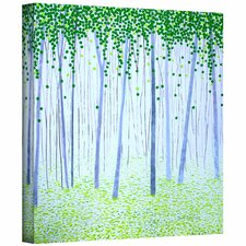 'Misty Woodlands' by Herb Dickinson Painting Print on Wrapped Canvas