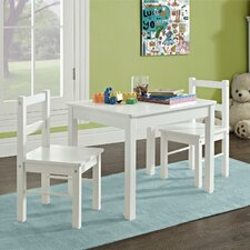 Suri Kids' 3 Piece Rectangle Table and Chair Set