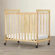 Sawyer Compact Size Clearview Convertible Crib with Mattress