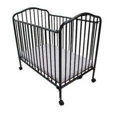 Fuqua Metal Convertible Crib with Mattress