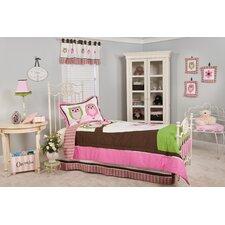 Natasha Owl Twin 3 Piece Bedding Set