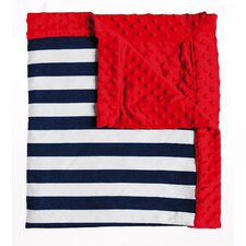 Carl Anchors Away Striped Minky Dot Throw Blanket