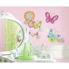 Carota Butterfly Peel and Stick Wall Decal