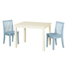 Liam 3 Piece Rectangle Table and Chair Set