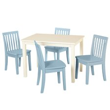 Liam 5 Piece Rectangle Table and Chair Set