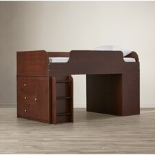 June Twin Panel Bed with Dresser and Storage Organizer