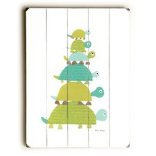 Six Turtles Wooden Wall Plaque