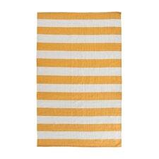Ike Hand-Woven Yellow/White Area Rug