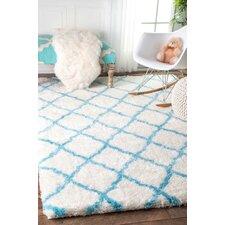 Junior Baby Blue Shag Area Rug