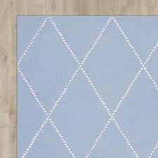 Nat Diamond Trellis Hand-Tufted Baby Blue Area Rug