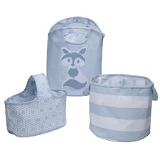 Ranjit 3-Piece Canvas Nursery Storage Set