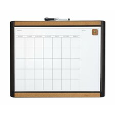 MOD and Pin-It Dry Erase Monthly Magnetic Calendar Whiteboard, 1' H x 2' W