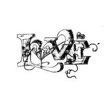 "Kunstdruck ""love"" 20 cm H x 20 cm B"