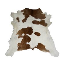 Designer Cowhides Brown and White Calf Skin Area Rug