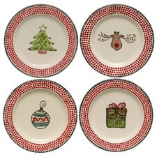 "M.Bagwell 8.75"" Assorted Salad Plate 4 Piece Set"