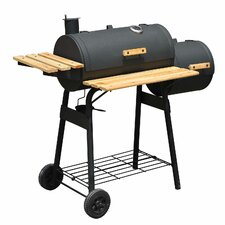 "48"" Backyard Charcoal Grill with Wheels"
