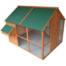 Deluxe Extra-Large Backyard Chicken Coop/Hen House with Outdoor Run