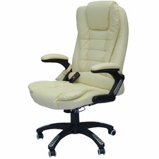 HomCom Faux Leather Heated Massage Chair