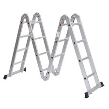15.5 ft Aluminum Multi-Position Folding Ladder