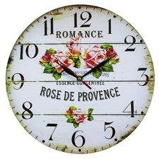 Wanduhr Rose de Provence 34 cm