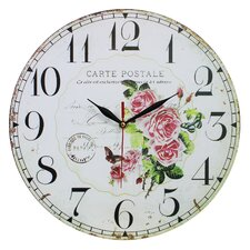 Wanduhr Roses and Postal Card 34 cm