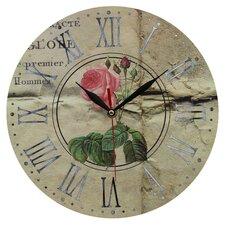 Wanduhr Pink Rose 28 cm