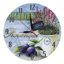 Wanduhr Provencal and Plums 28 cm