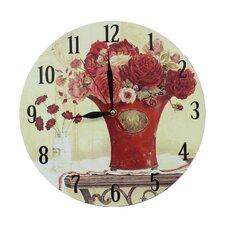 Wanduhr Red Flowers 28 cm