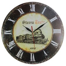 Wanduhr Steam Train 34 cm
