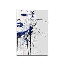 Aquarell-Leinwandbild Marilyn Monroe-IV Enigma - 90 x 60 cm