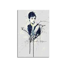 Aquarell-Leinwandbild Audrey Hepburn Enigma  - 90x 60 cm