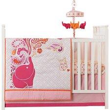 Party Elephant 4 Piece Crib Bedding Set