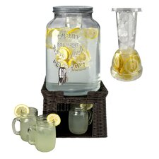 8-Piece Beverage Dispenser Set