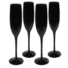 Midnight Flute Glass (Set of 4)