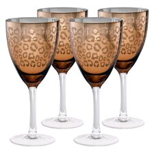 Leopard Wine Glass (Set of 4)