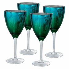 Peacock Wine Glass (Set of 4)