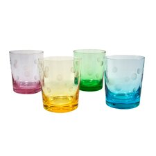 Polka Dot 12 Oz. DOF Glass (Set of 4)