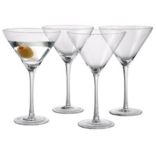 Sommelier 9 Oz. Stem Martini Glass (Set of 4)