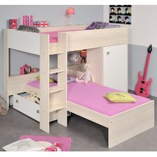 Ninety Twin Over Twin Bunk Bed with Trundle