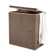2 Compartment Laundry Hamper with Magnetic Lid