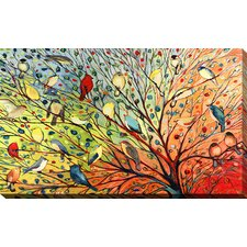 """""""27 Birds"""" by Jennifer Lommers Painting Print on Wrapped Canvas"""
