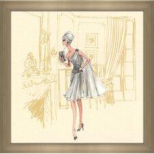 """Silver Dress Barbie®"" by Robert Best Framed Painting Print"