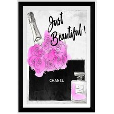 'Chanel Bag with Perfum Black' by BY Jodi Framed Graphic Art