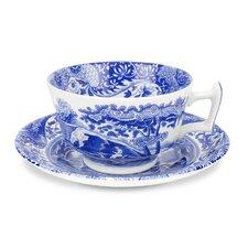4-tlg. Teetasse-Set mit Untertellern
